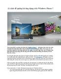 22 cách để quảng bá ứng dụng trên Windows Phone 7