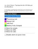 Ace Alerts Master- Ứng dụng báo đèn LED hiệu quả trên BlackBerry