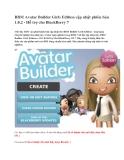 BBM Avatar Builder Girls Edition cập nhật phiên bản 1.0.2 - Hỗ trợ cho BlackBerry 7