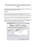 Biến giao diện Windows XP, 2003 thành Mac OS X Lion