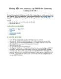 Hướng dẫn root, recovery, up ROM cho Samsung Galaxy Tab 10.1