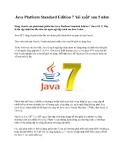 Java Platform Standard Edition 7 'tái xuất' sau 5 năm