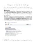 Những cách tìm kiếm độc đáo trên Google