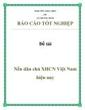 Đề tài: Nền dân chủ XHCN Việt Nam hiện nay