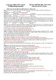 Đề thi thử Đại học môn Sinh - Trường THPT chuyên Lê Hồng Phong (có đáp án)