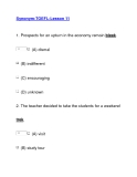 Tài liệu Synonym-TOEFL-Lesson 11