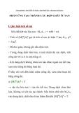 BÀI TẬP HÓA HỌC LỚP 11  PHẢN ỨNG TẠO THÀNH CÁC HỢP CHẤT ÍT TAN
