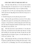 HÓA HỌC 11 CÔNG THỨC PHÂN TỬ HỢP CHẤT HỮU CƠ