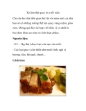Tự làm thịt quay ăn cuối tuần