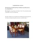 Xác định kích thước của bàn ăn