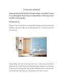 Ý tưởng trang trí phòng ngủ