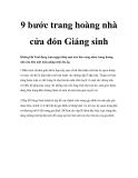 9 bước trang hoàng nhà cửa đón