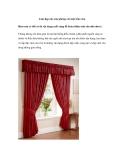 Làm đẹp cho căn phòng với một tấm rèm