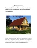 Nhà gỗ mộc mạc và yên bình