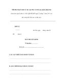 Mẫu Bản thuyết minh về việc soạn thảo văn bản quy phạm pháp luật (Kèm theo