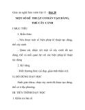 Giáo án nghề làm vườn lớp 11 - Bài 29 MỘT SỐ KĨ THUẬT CƠ BẢN TẠO DÁNG, THẾ CÂY CẢNH