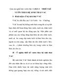 Giáo án nghề làm vườn lớp 12 - BÀI 1: THIẾT KẾ VƯỜN THEO HỆ SINH THÁI VAC