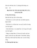 Giáo án sinh học lớp 12 chương trình nâng cao-  Tiết: 30  Bài: BẢO VỆ VỐN GEN DI TRUYỀN CỦA LOÀI NGƯỜI