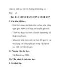 Giáo án sinh học lớp 12 chương trình nâng cao - Tiết: 26  Bài: TẠO GIỐNG BẰNG CÔNG NGHỆ GEN I