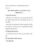 Giáo án sinh học lớp 12 chương trình nâng cao -  Tiết: 24 Bài: CHỌN GIỐNG VẬT NUÔI VÀ CÂY TRỒNG (TT)