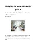 Giải pháp cho phòng khách chật (phần 3)