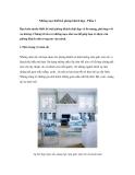 Những mẹo thiết kế phòng khách đẹp - Phần 1
