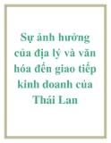 Luận văn: Sự ảnh hưởng của địa lý và văn hóa đến giao tiếp kinh doanh của Thái Lan
