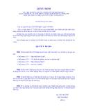 QUYẾT ĐỊNH SỐ 100/ 2005/ QĐ -BTC