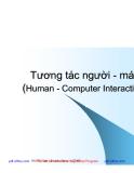 Tương tác người - máy (Human - Computer Interaction) - Phần 1