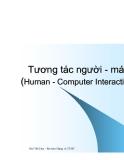 Tương tác người - máy (Human - Computer Interaction) - Phần 4