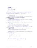 Giáo trình lập trình nâng cao - Phụ lục