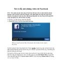 Tải và lấy mã nhúng video từ Facebook
