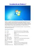 Các phím tắt của Windows 7  Window