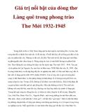 Tài liệu: Giá trị nổi bật của dòng thơ Làng quê trong phong trào Thơ Mới 1932-1945