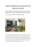 Nguyên tắc thiết kế sân vườn đẹp mà ít cần chăm sóc, bảo quản