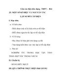 Giáo án điện dân dụng THPT - Bài 25: MỘT SỐ KÍ HIỆU VÀ NGUYẤN TẮC LẬP SƠ ĐỒ CẤP ĐIỆN