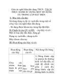 Giáo án nghề điện dân dụng THCS - Tiết 24 :THỰC HÀNH SỬ DỤNG MỘT SỐ DỤNG CỤ TRONG LẮP ĐẶT ĐIỆN