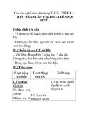 Giáo án nghề điện dân dụng THCS - TIẾT 41: THỰC HÀNH LẮP MẠCH HAI ĐÈN SỢI ĐỐT