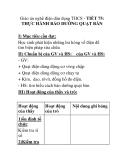 Giáo án nghề điện dân dụng THCS - TIẾT 75: THỰC HÀNH BẢO DƯỠNG QUẠT BÀN