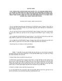QUYẾT ĐỊNH CỦA THỐNG ĐỐC NGÂN HÀNG NHÀ NƯỚC SỐ 127/2005/QĐ-NHNN