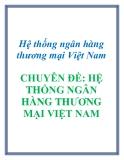 Hệ thống ngân hàng thương mại Việt Nam CHUYÊN ĐỀ: HỆ THỐNG NGÂN HÀNG THƯƠNG MẠI VIỆT NAM