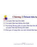 Bài giảng môn lý thuyết ôtômát và ngôn ngữ hình thức - Chương 2