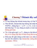 Bài giảng môn lý thuyết ôtômát và ngôn ngữ hình thức - Chương 7
