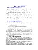 NGUYÊN LÝ CẮT - HỌC TRÌNH 3 PHAY – CHUỐT – CẮT RĂNG – MÀI - BÀI 3