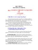 NGUYÊN LÝ CẮT - HỌC TRÌNH 1 NGUYÊN LÝ CHUNG - BÀI 1