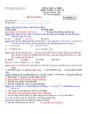 ĐỀ THAM KHẢO MÔN VẬT LÝ -  Mã đề thi 132
