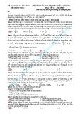 Đề thi tuyển sinh lí khối A năm 2011 - mã đề 817