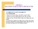 Bài giảng Nguyên lý Quản trị học - Chương 1