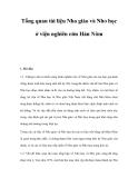 Tổng quan tài liệu Nho giáo và Nho học ở viện nghiên cứu Hán Nôm