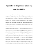 Nguyễn Du và thế giới nhân vật của ông trong thơ chữ Hán